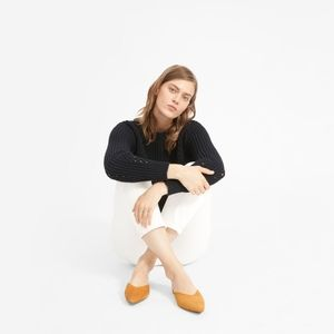 Everlane The V Mule-Mustard Suede size 6